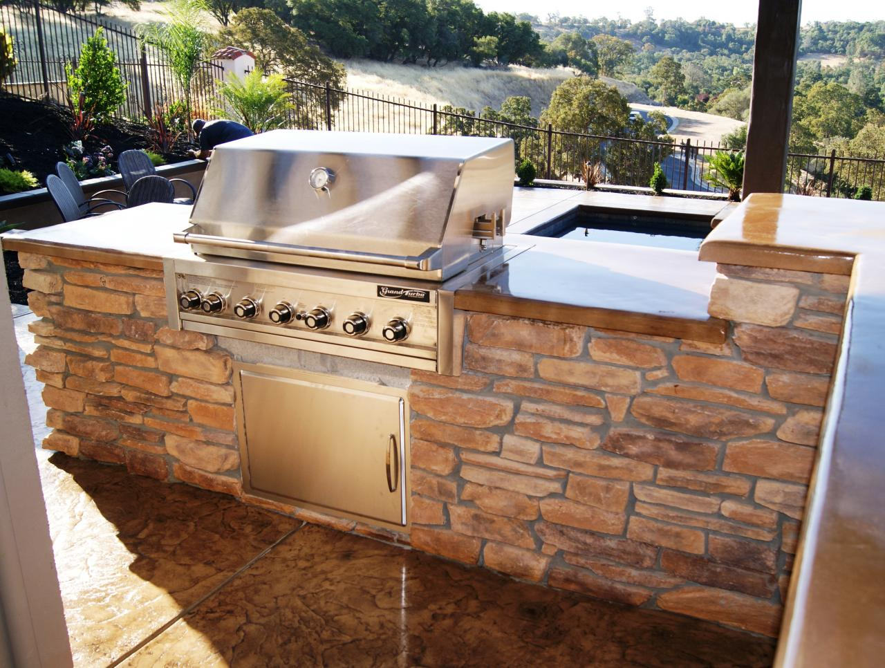 Mayes landscape outdoor kitchens and fireplaces for Custom outdoor bbq kitchens